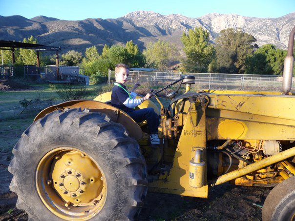 Cody and the tractor