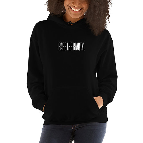 Unisex Hoodie Black with White Lettering