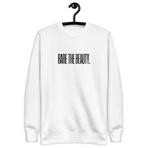 Unisex Fleece Pullover (White with Black Lettering)