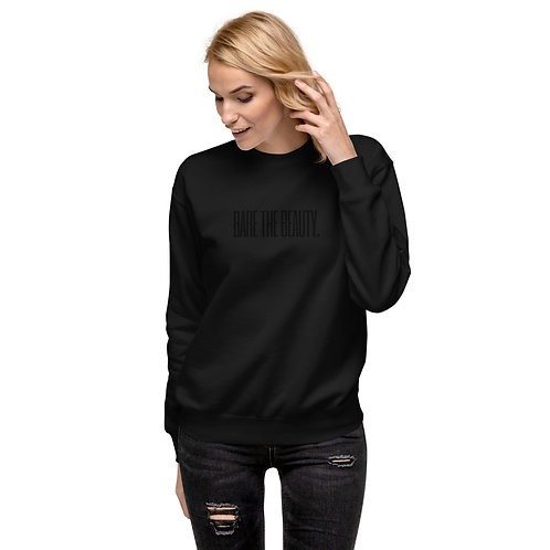 Unisex Fleece Pullover Black with Black Lettering