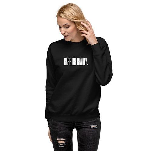 Unisex Fleece Pullover (Black with White Lettering)