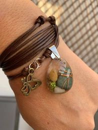 Orgonite Bracelet Leather