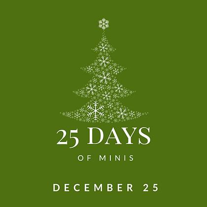 Dec 25 - 25 Days of Minis