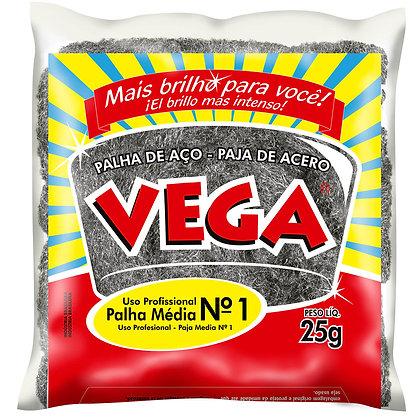 Palha de Aço Nº 01 (Média) Vega Steel - 1 unidade
