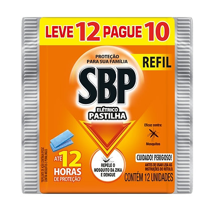Inseticida Elétrico Refil Pastilha SBP - 12 pastilhas