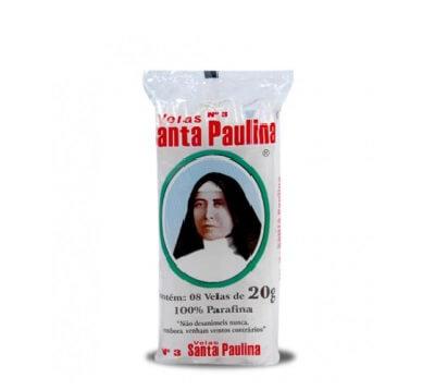 Vela Santa Paulina Nº 3 20g - 8 Unidades