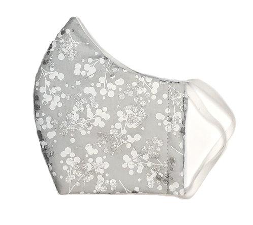 Grey, Silver & White Floral