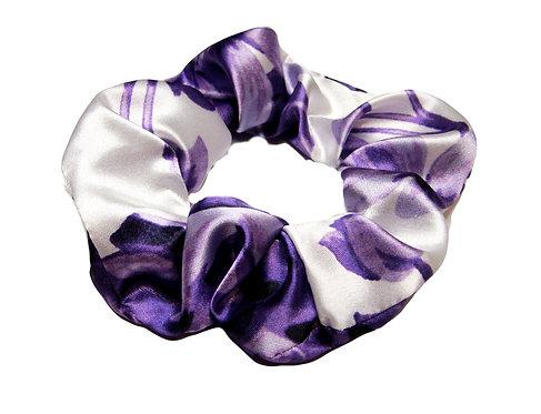 Purple Flower Satin