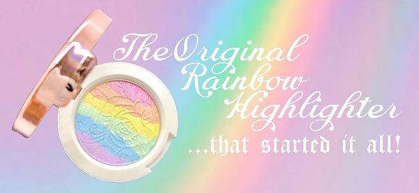 prism, rainbow highlighter, makeup, rainbow, glow, prism