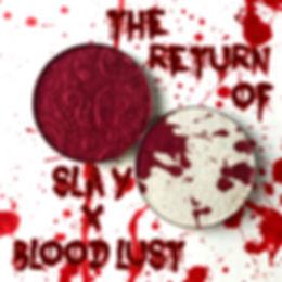 bloodlust, slay, highlighter, bitter lace, bitter lace beauty, makeup, spooky, red, blood splatter, blood