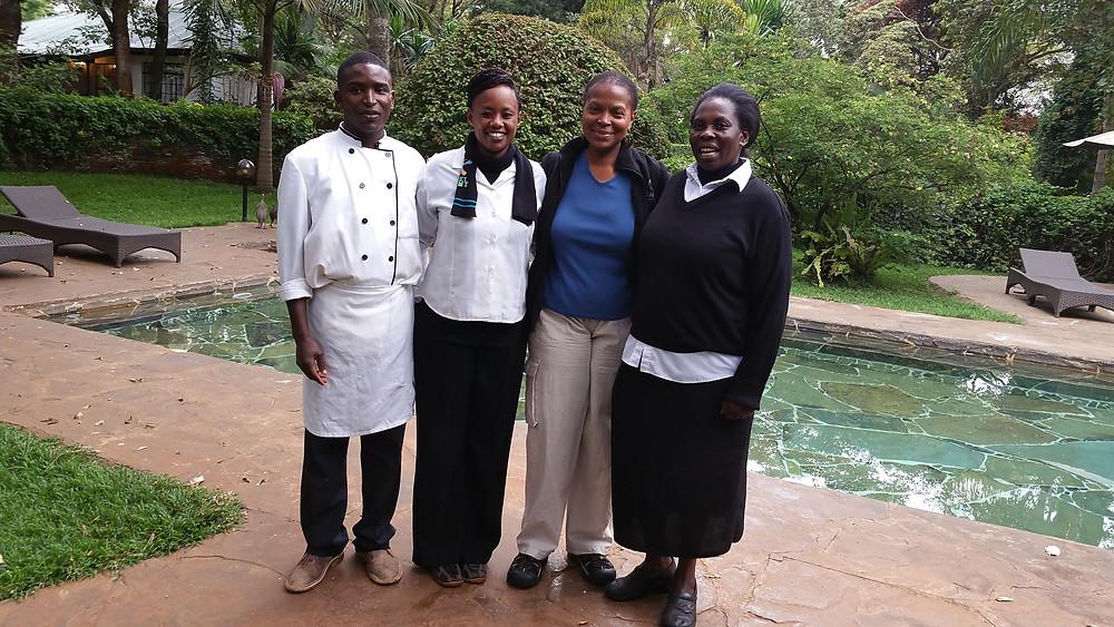Cheryl with employees @ Karen Blixen