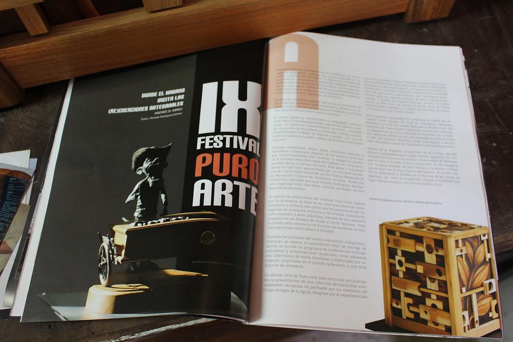 Humidor in magazine