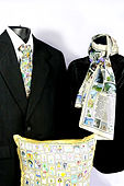 Embrace the Angel Silk Tie Scarf Pillow