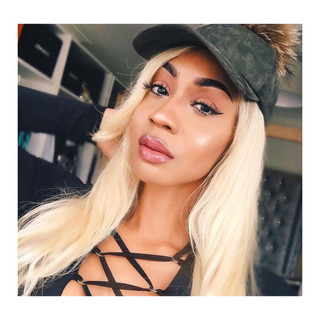 When your beauty is radiant, singer and songwriter Monique Lawrence sporting the Khaki furry bonnet.  @MoniqueLawz