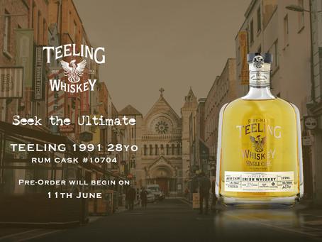 """Seek The Ultimate"" Teeling 1991 28yo Rum Barrelをリリースいたします"