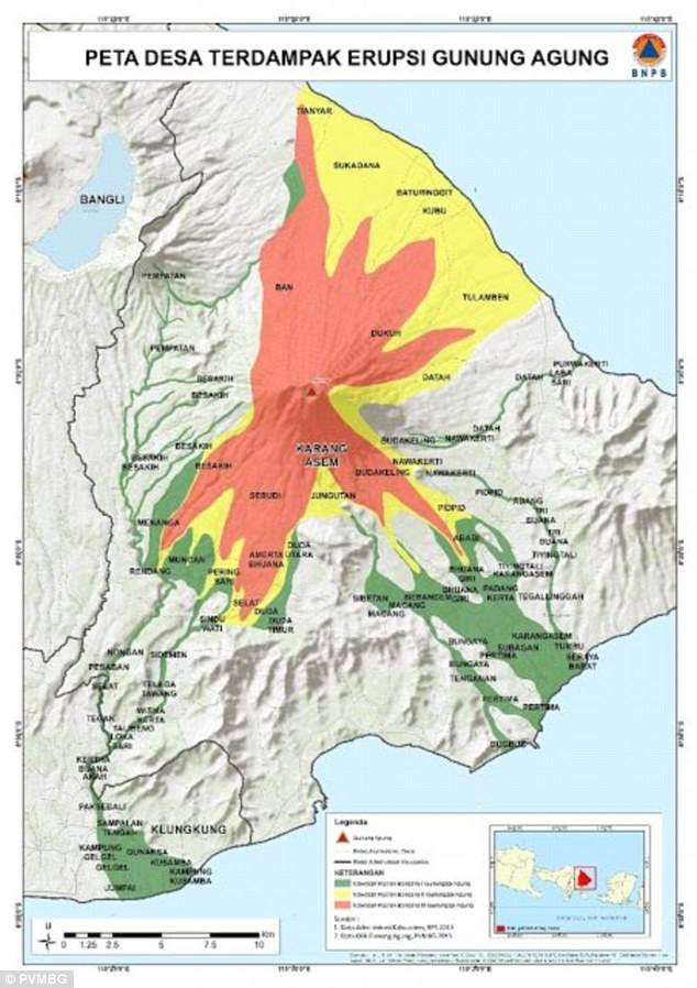 Map released by The National Disaster Mitigation Agency (BNPB) (File source: BNPB via thejakartapost.com)