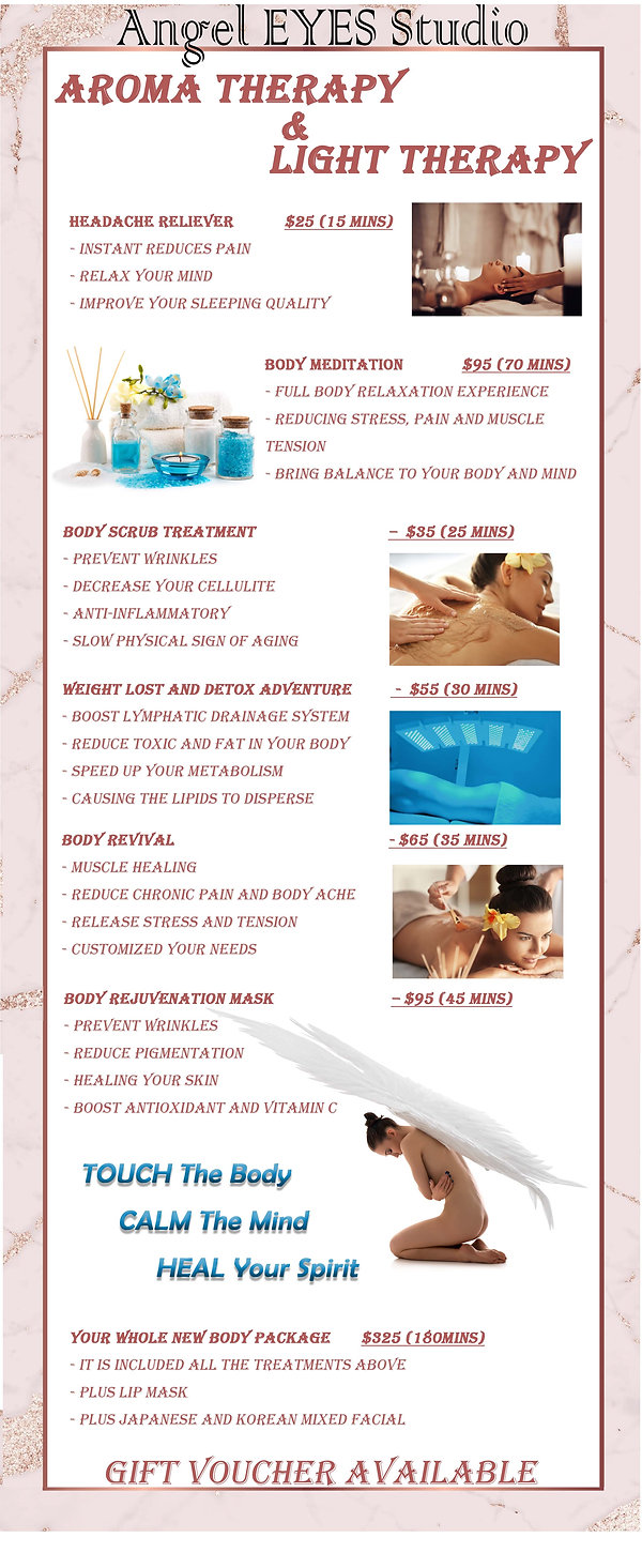 Spa Price List