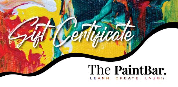 The PaintBar Gift Voucher - $25