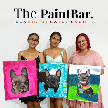3 happy girls paint their dogs2_square.p