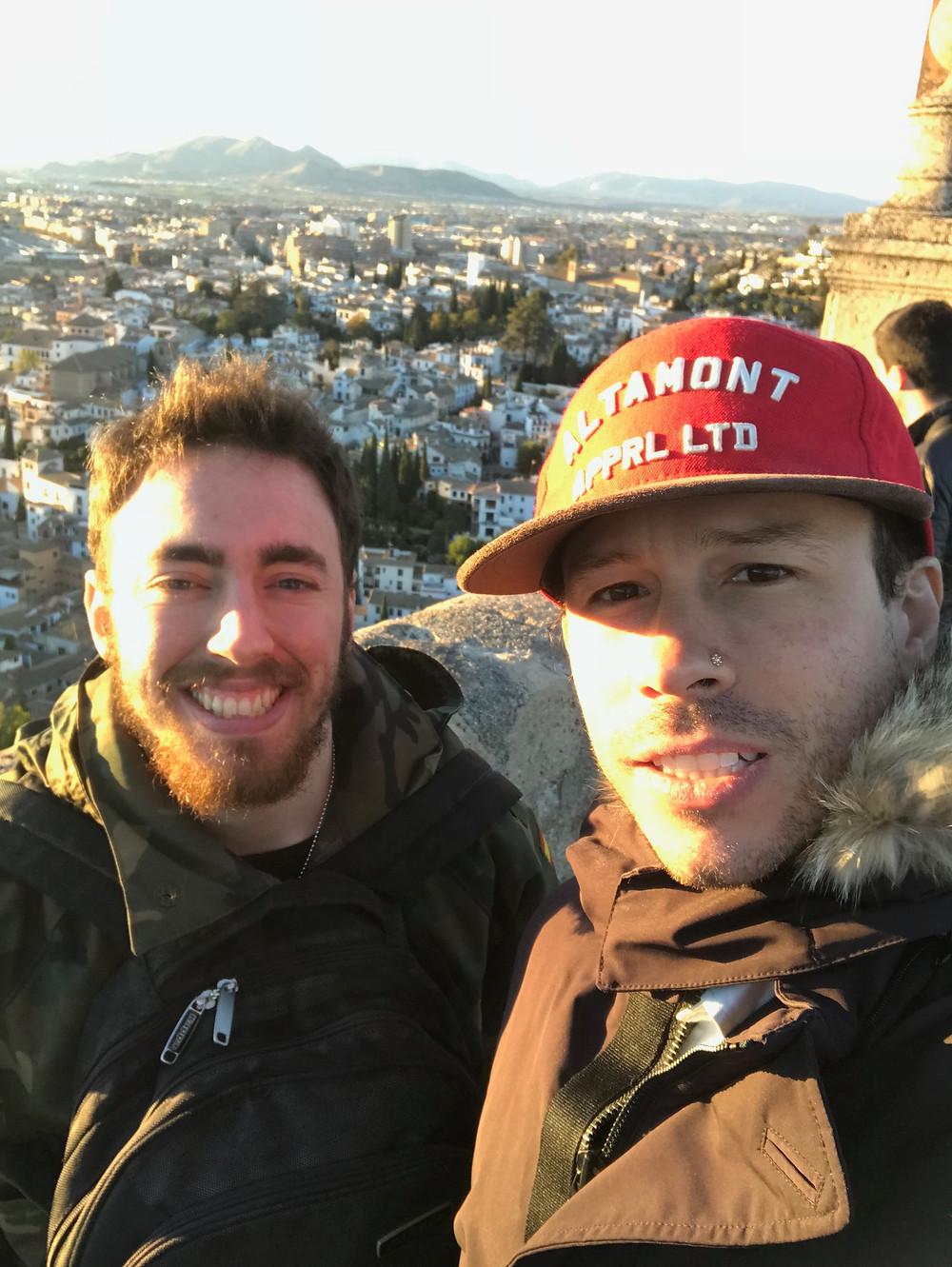 Enoch and I in Granada
