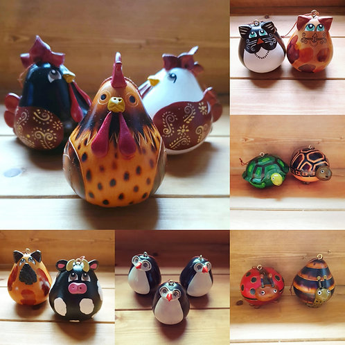Gourd Hand-Painted Decorations