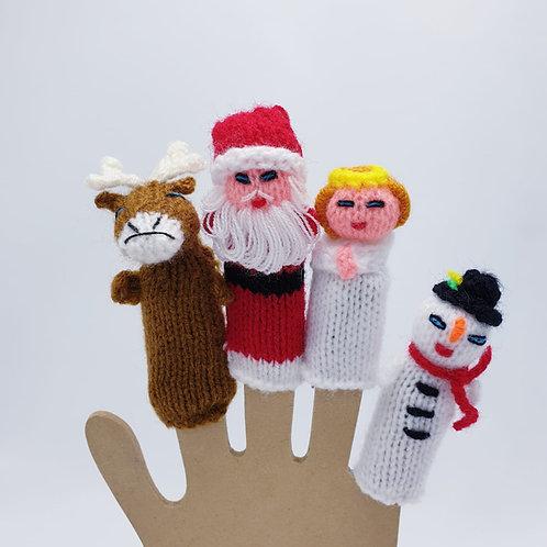 Finger Puppets Christmas Set