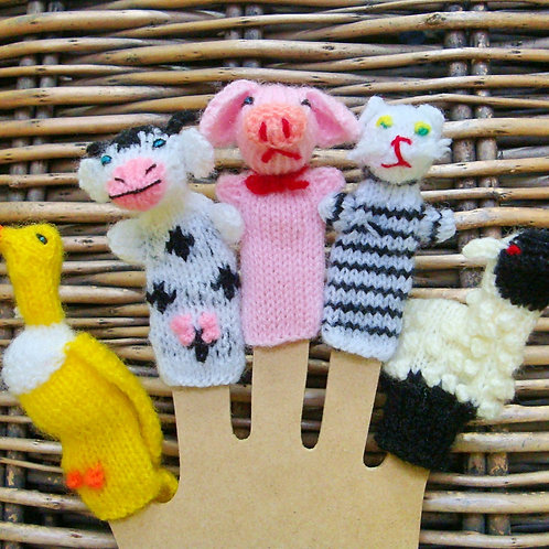 Set of Finger Puppets from the Andes