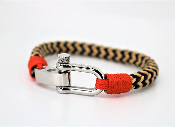 Tribal Sports Blue/Yellow/Orange Bracelet (Adjustable)