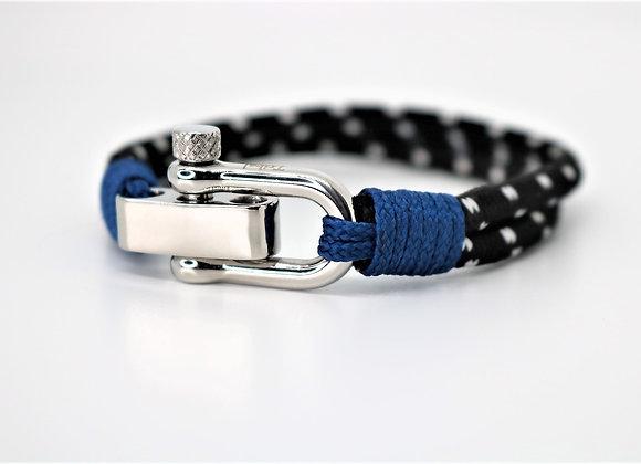 Tribal Sport Black & Blue Bracelet (Adjustable)