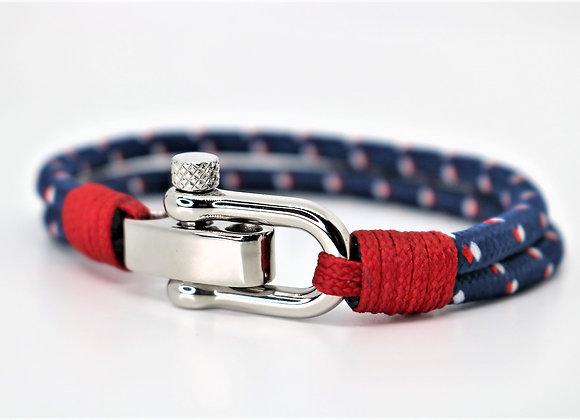 Tribal Blue & Red Sports Bracelet (Adjustable)