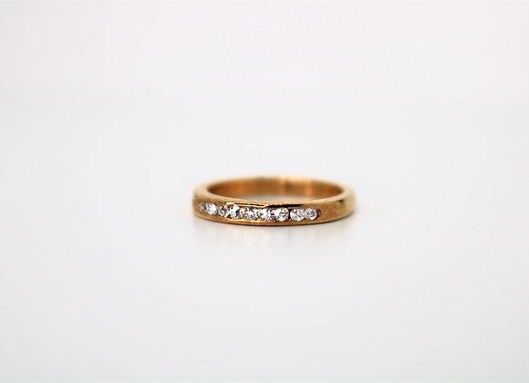 9ct Yellow Gold Half Eternity Diamond Ring - New