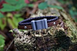 Tribal Leather/Steel/Sport Bracelet