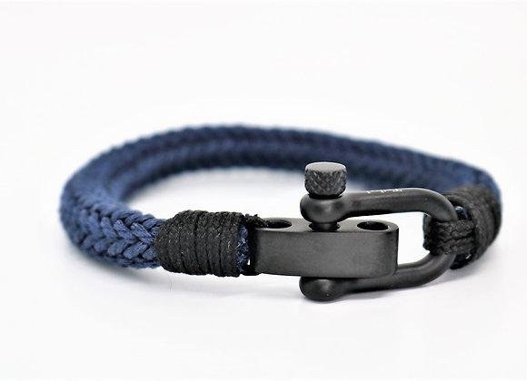 Tribal Sports Matte Black & Navy Blue Bracelet (Adjustable)