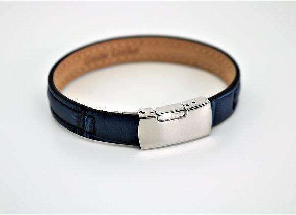 Tribal Blue Leather Bracelet