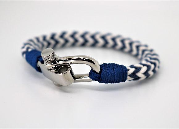 Tribal Sports Blue & White Bracelet (Adjustable)