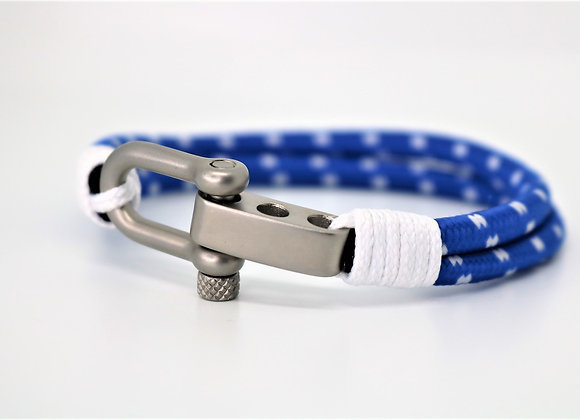Tribal Sports White & Blue Bracelet (Adjustable)