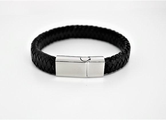 Black Tribal Leather Bracelet