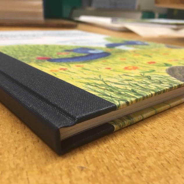 Hardcover Layflat mit Leinenrücken