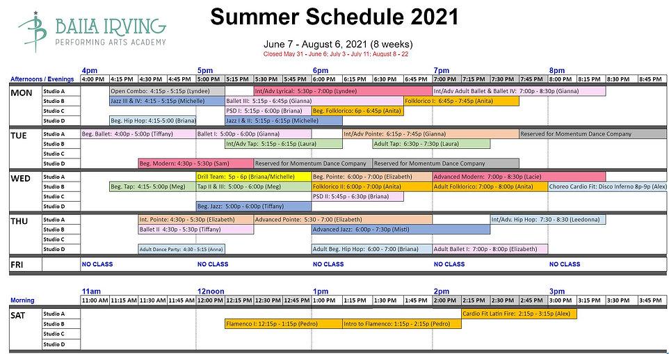 BIPAA Summer 2021 schedule June 11.JPG