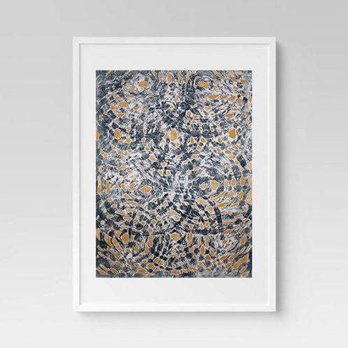 Round Batik Print