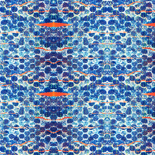 Blue Bubbles Fabric