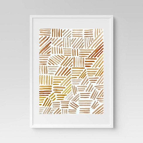 Crosshatch Print
