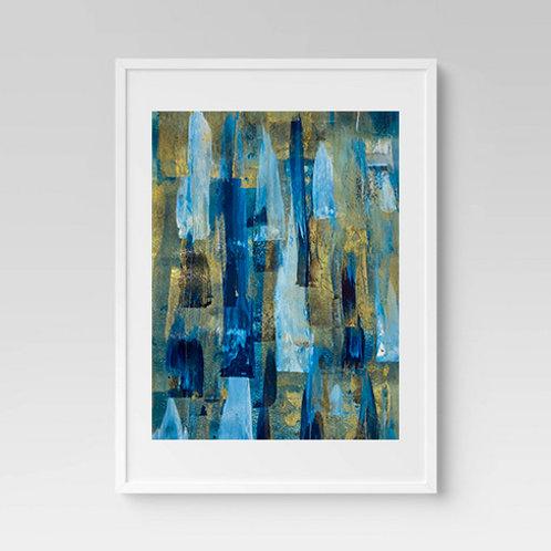 Blue Crystals Print
