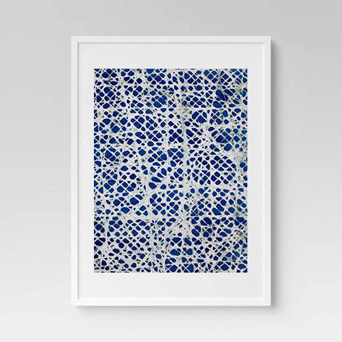 Blue Texture Print