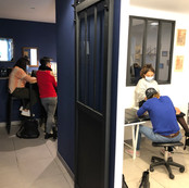 tatouage à l'Atelier Bleu ( La Bulle Tat