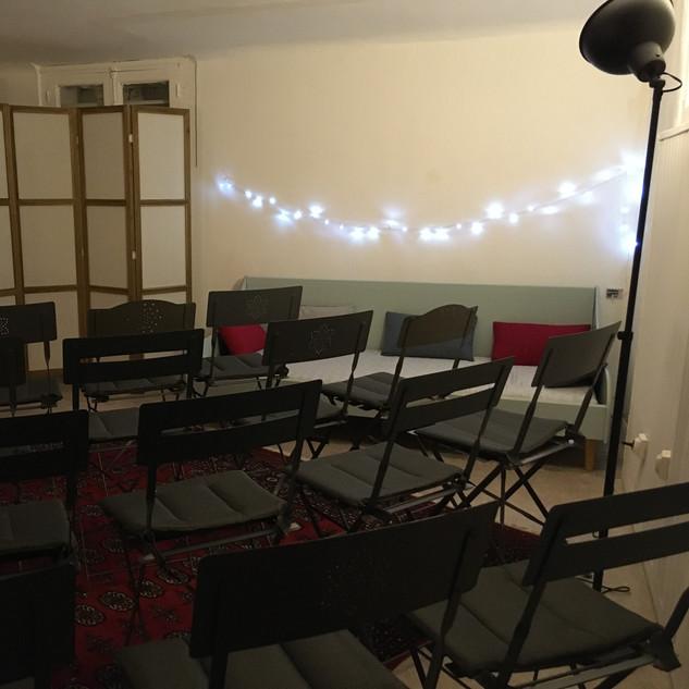 L'atelier de poche pour lectures, stages, travail en petit groupe.