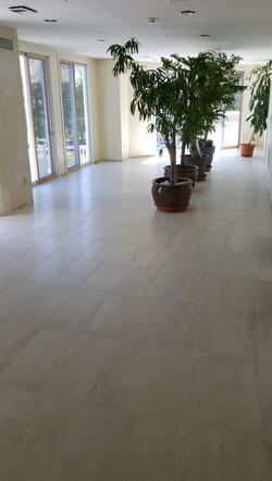 Sun room floor