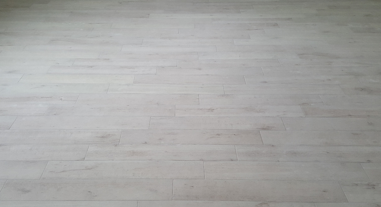 Wood style tile floor project