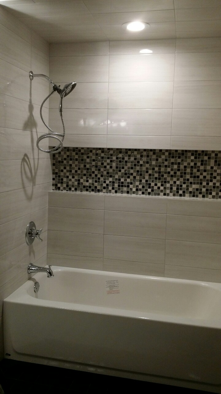 Bathroom remodel with tub