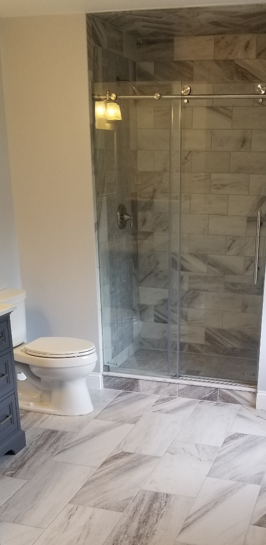 custom shower and tile